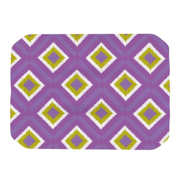 Purple Splash Tile Placemat by KESS InHouse
