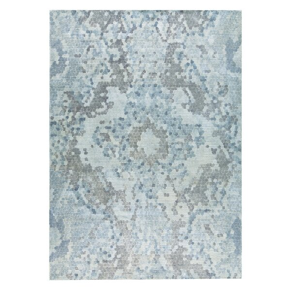Omaha Hand-Woven Gray/Blue Area Rug by M.A. Trading