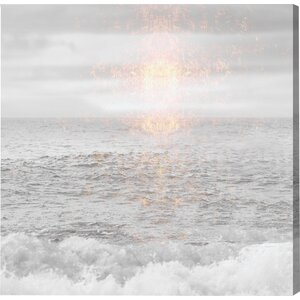 'Grey Sea' Photographic Print on Wrapped Canvas by Mistana