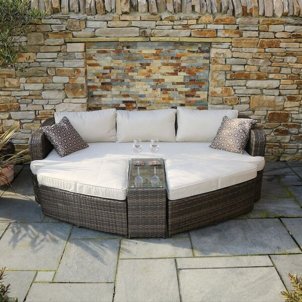 Direct Outdoor Patio Daybed with Cushions by Latitude Run