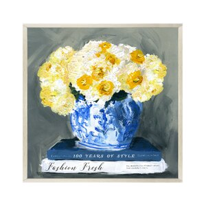 'Fashion Fresh Blue' Framed Painting Print by Willa Arlo Interiors