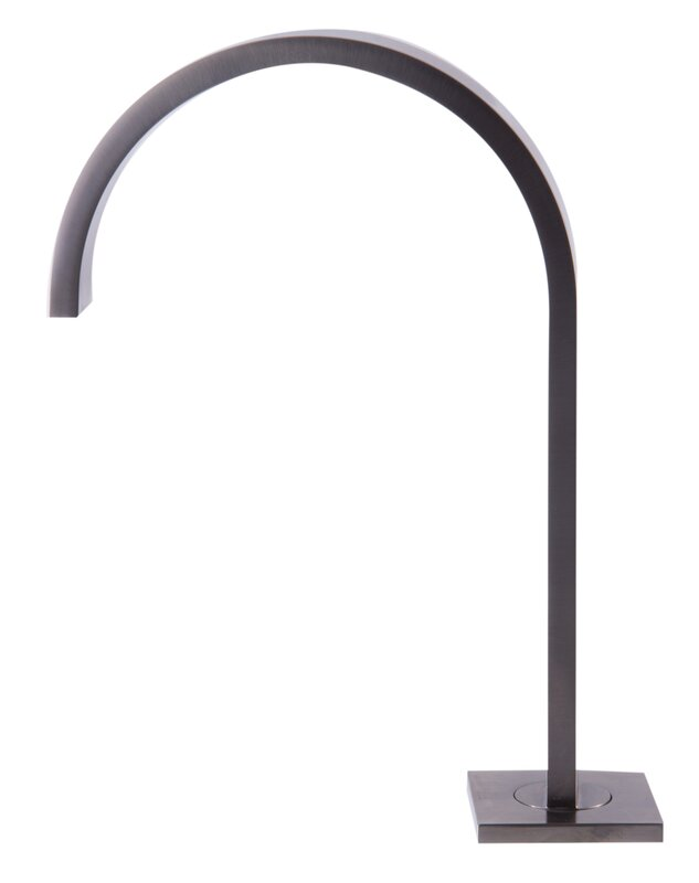 Bathroom Faucet Gooseneck alfi brand gooseneck widespread deck mounted double handle