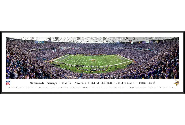 NFL Minnesota Vikings - 50 Yard Line - Finale by Christopher Gjevre Framed Photographic Print by Blakeway Worldwide Panoramas, Inc