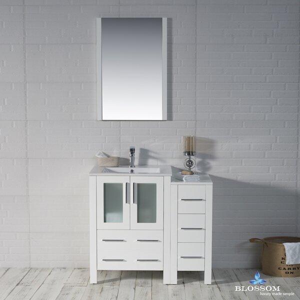Mance Modern 36 Single Bathroom Vanity Set with Mirror by Orren Ellis