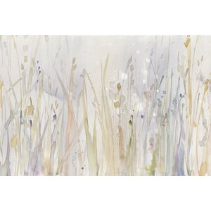 'Autumn Grass' Painting Print on Canvas by East Urban Home