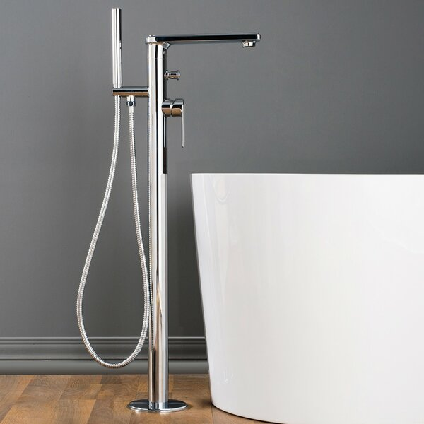 Adalbert Single Handle Floor Mounted Bath Faucet by Maykke