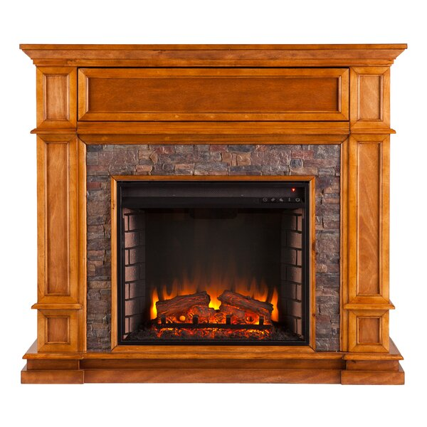 Valholl Electric Fireplace by Alcott Hill