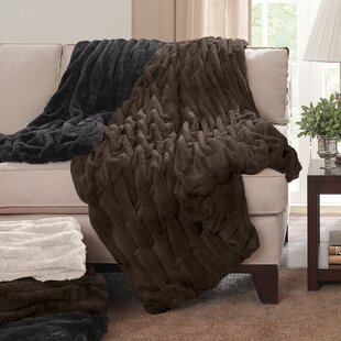 Cailey Ruched Throw Blanket by Wade Logan