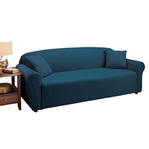 Floral Box Cushion Sofa Slipcover