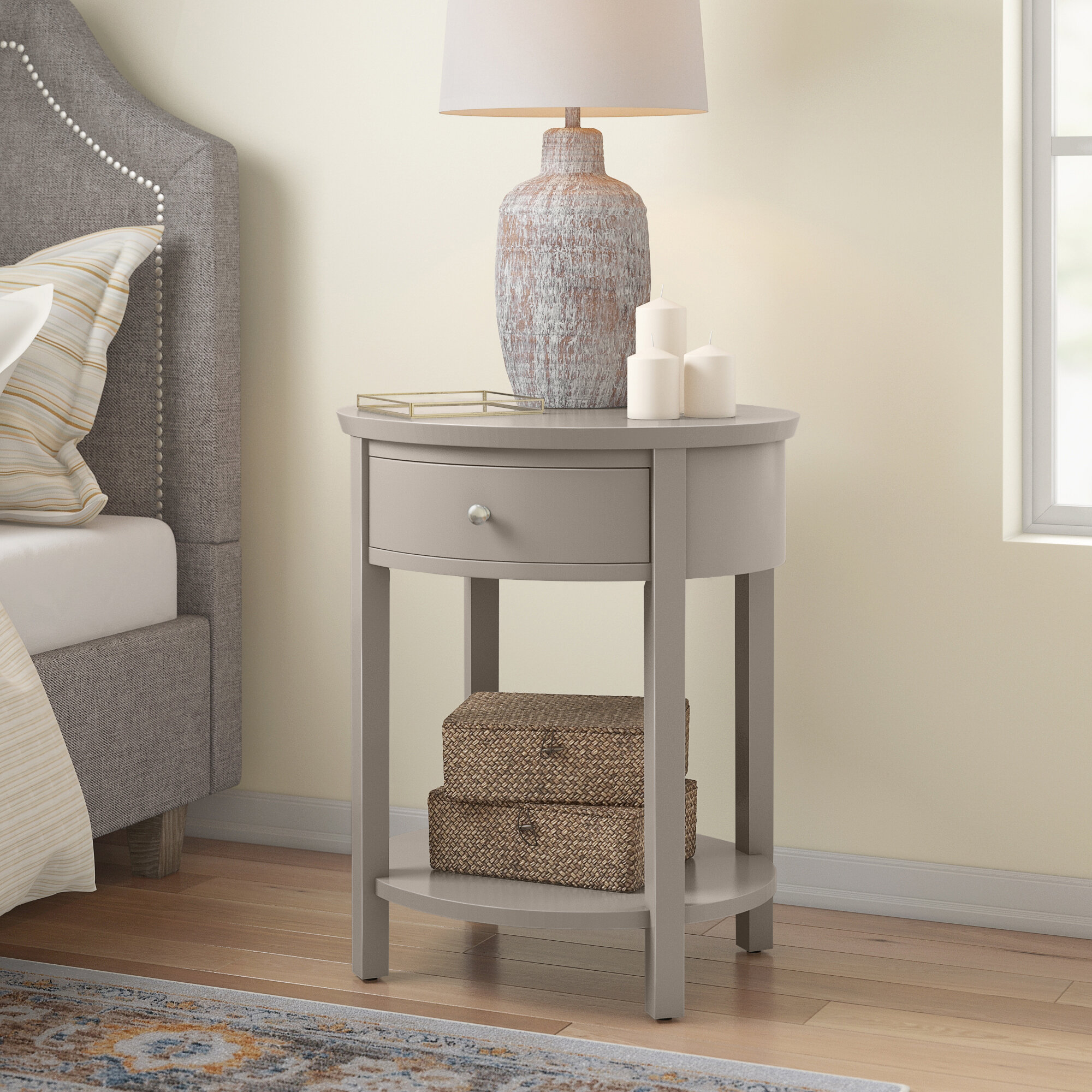 Oval Silver End Side Tables You Ll Love In 2021 Wayfair