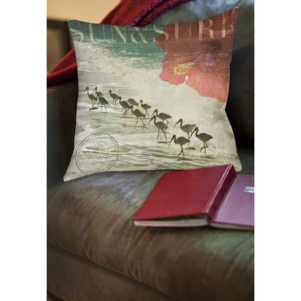 Sun and Surf Printed Throw Pillow by Manual Woodworkers & Weavers