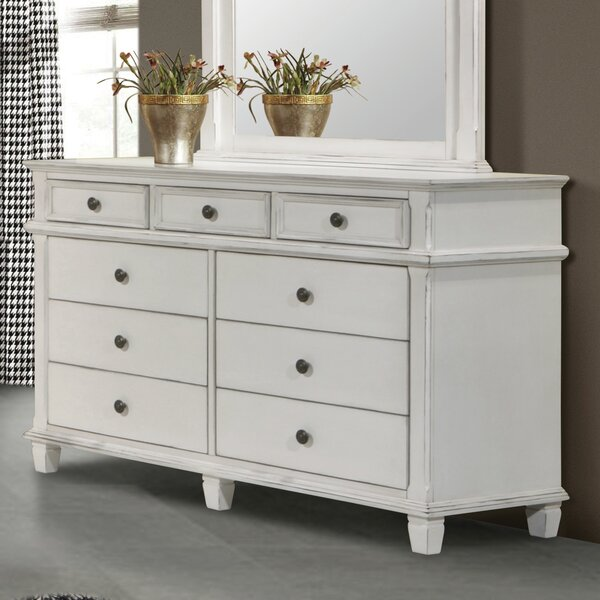 Lexie 9 Drawer Double Dresser by Rosecliff Heights