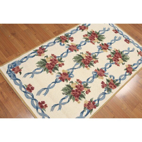 One-of-a-Kind Gere Hand-Knotted Wool Beige/Red/Brown Area Rug by Astoria Grand