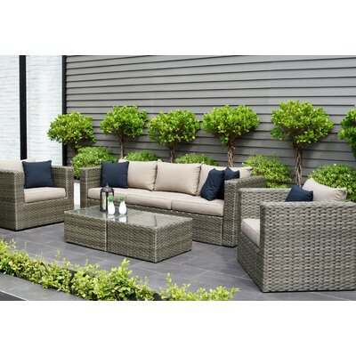 Beachcrest Home Sofa Set Cushions Seating Groups