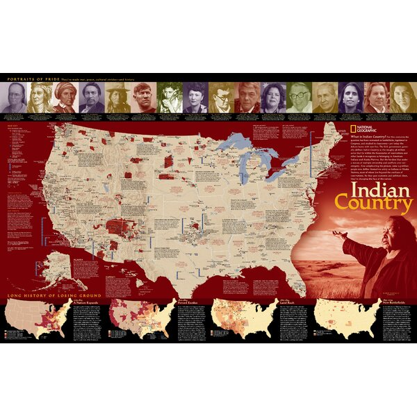 Indian Country Poster Map by National Geographic Maps