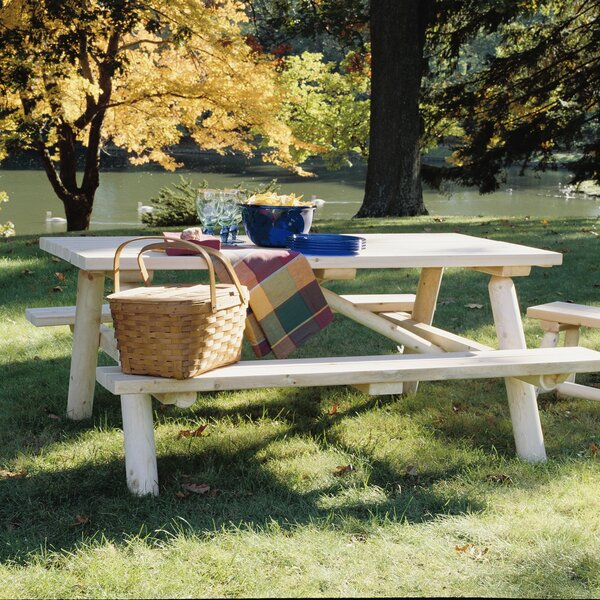 Cedar Log Picnic Table by Rustic Natural Cedar Furniture