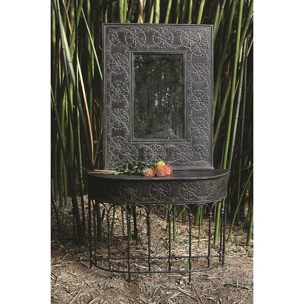 Knopp Embossed Accent Mirror by Ophelia & Co.