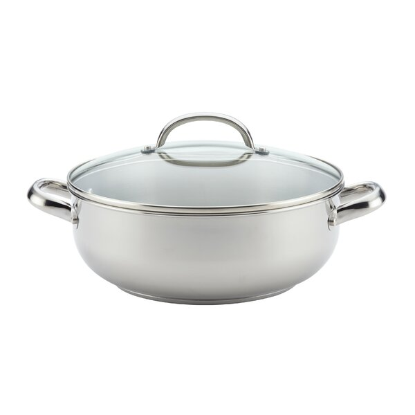 Buena Cocina 6 Qt. Stainless Steel Round Soup Pot by Farberware