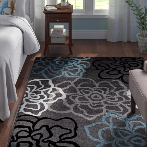 Shiflett Gray/blue/white Area Rug By Andover Mills.