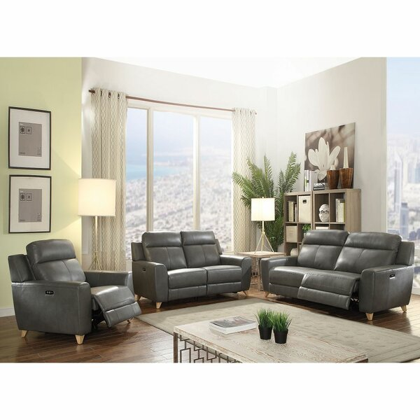 Aleira Leather Reclining Configurable Living Room Set By Latitude Run