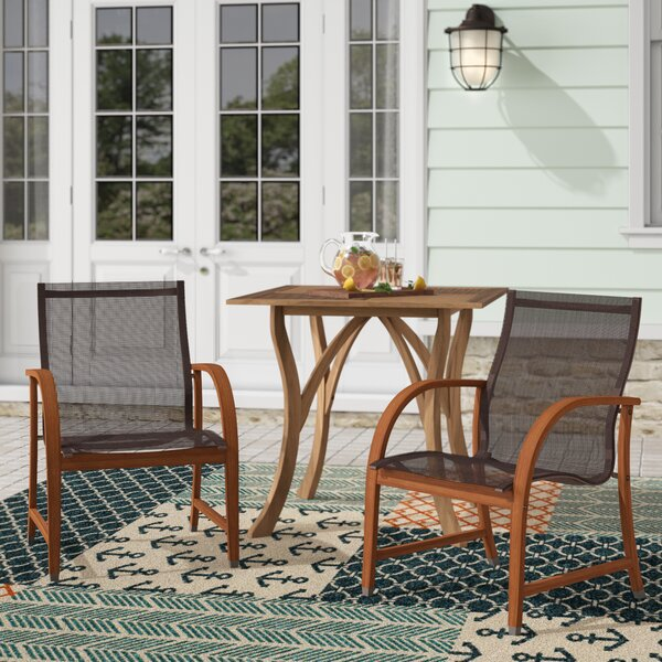 Hillsford Patio Dining Chair (Set of 4) by Beachcrest Home Beachcrest Home