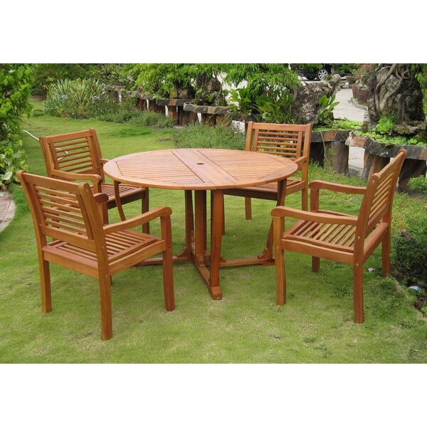 Sabbattus Ventallo 5 Piece Dining Set by Breakwater Bay