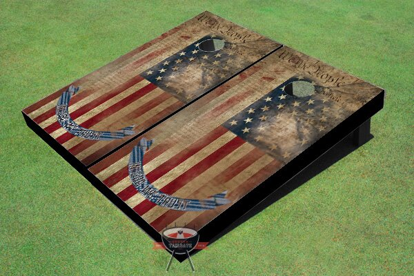 We The People Flag Cornhole Board (Set of 2) by All American Tailgate