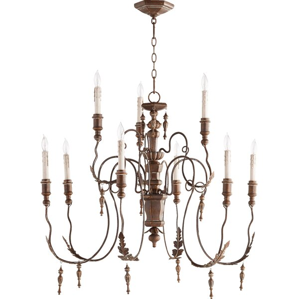 Kappel 9 - Light Candle Style Tiered Chandelier by One Allium Way One Allium Way