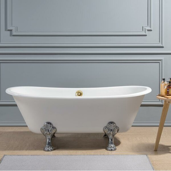 Cast Iron 67 x 28 Clawfoot Soaking Bathtub by Streamline Bath
