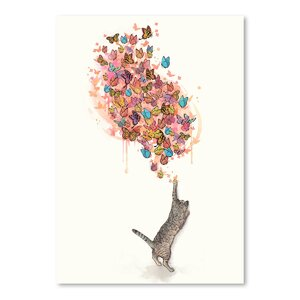 'Catching Butterflies' Graphic Art Print by East Urban Home