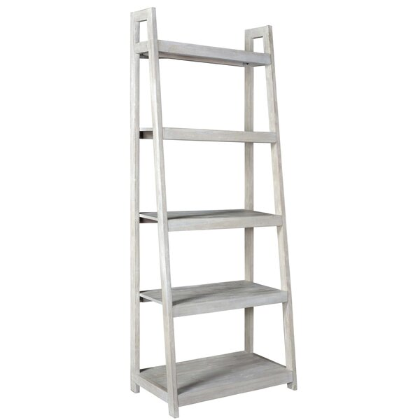 Santiago Acacia Wood Ladder Bookcase by Rosecliff Heights