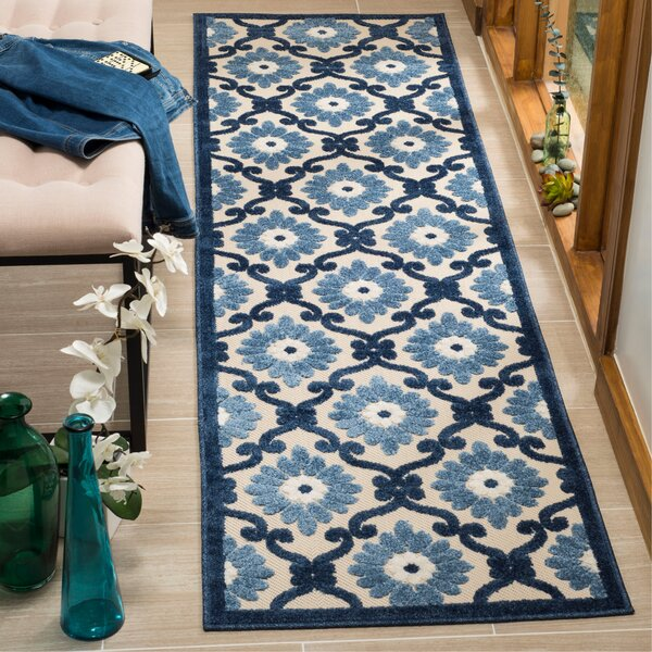 Bryan Ivory/Blue Area Rug by Charlton Home