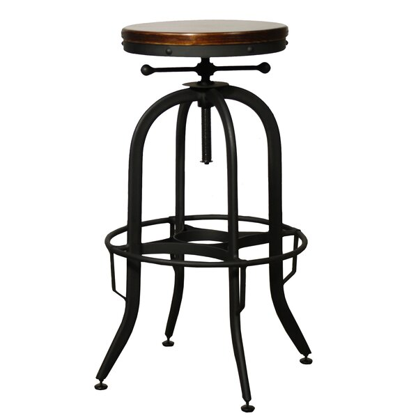 Del City Adjustable Height Swivel Bar Stool by Trent Austin Design