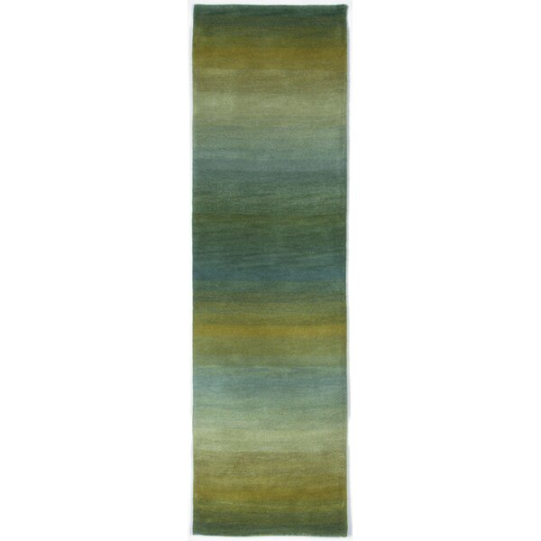 Belding Hand-Tufted Wool Blue/Gold Area Rug by Brayden Studio