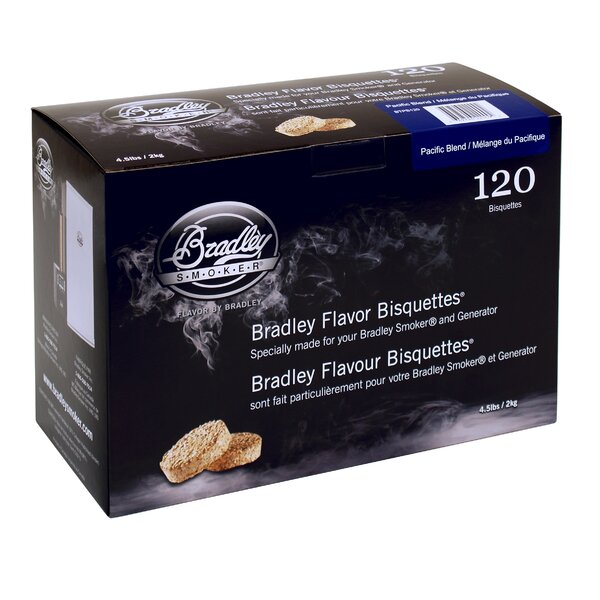 Pacific Blend Flavor Bisquettes (Set of 120) by Bradley Smoker