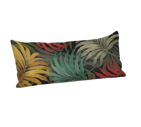 Brookmeadow Laperta Noir Outdoor Lumbar Pillow by Bay Isle Home