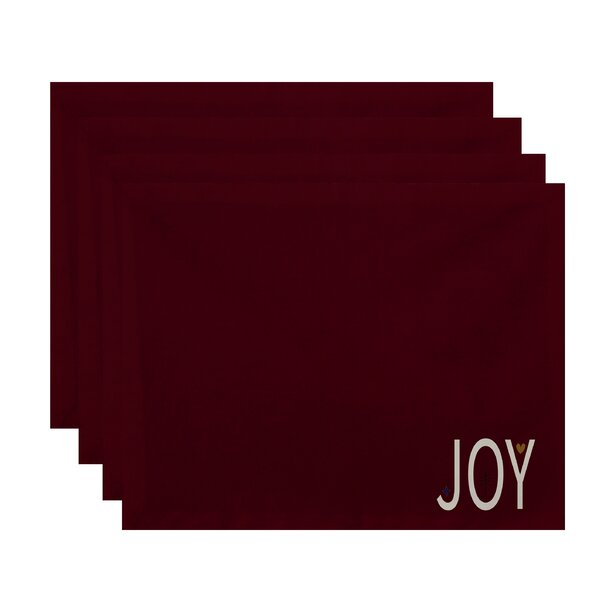 Joy Filled Season Holiday Word Print Placemat (Set of 4) by The Holiday Aisle