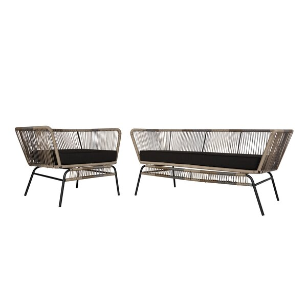 Harvey 2 Piece Standard Seating Group with Cushions by Modern Rustic Interiors