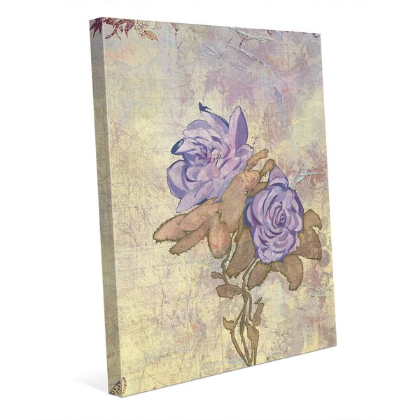Nostalgic Mauve Twins Graphic Art on Wrapped Canvas by Click Wall Art
