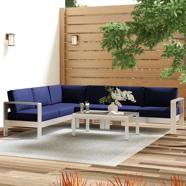Coline 5 Piece Sectional Set with Cushions by Orren Ellis Orren Ellis