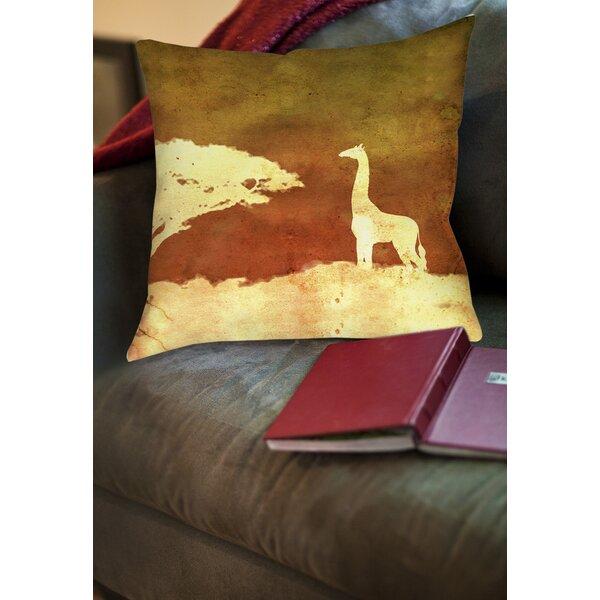 Safari Sunrise 4 Printed Throw Pillow by Manual Woodworkers & Weavers