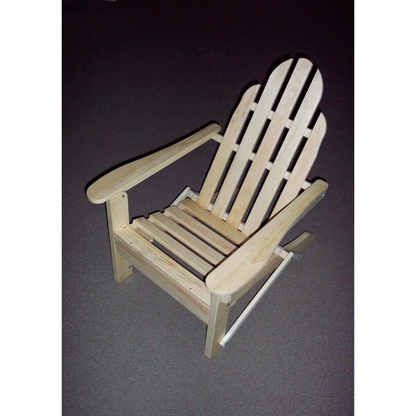 Folding Wood Adirondack Chair by Prairie Leisure Design