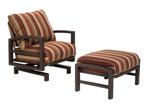 Lakeside Action Lounge Chair and Ottoman with Cushion by Tropitone