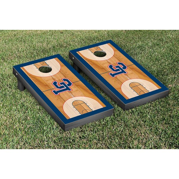 NAIA Lewis Clark Warriors Basketball Version Cornhole Game Set by Victory Tailgate