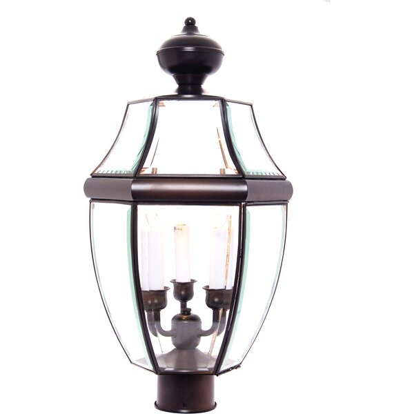 Lavergne Creek Traditional Outdoor 3-Light Lantern Head by Three Posts