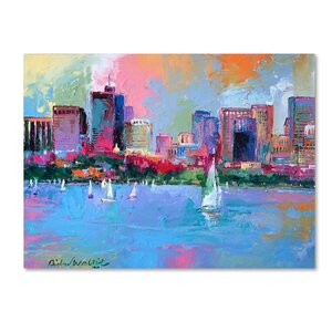 'Boston 3' by Richard Wallich Painting Print on Wrapped Canvas by Trademark Fine Art