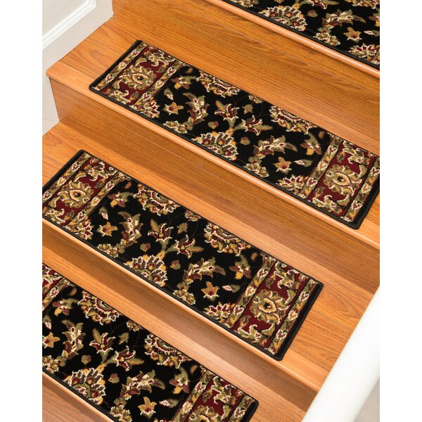 Sydney Black Stair Tread (Set of 13) by Natural Area Rugs