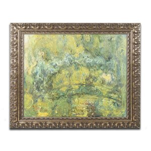 Passage On Waterlily Pond 1919 by Claude Monet Framed Painting Print by Trademark Fine Art