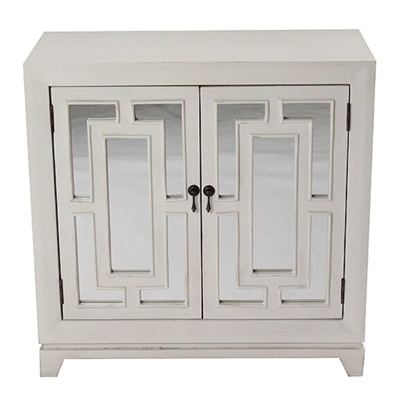 Narberth 2 Door Wood Cabinet with Mirror by Bungalow Rose