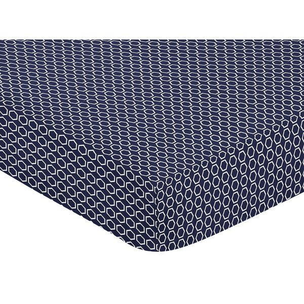 Arrow Hexagon Print Fitted Crib Sheet by Sweet Jojo Designs